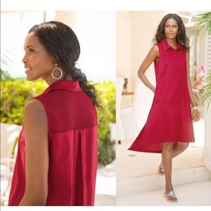 Soft Surroundings Claudette Dress Collared Red